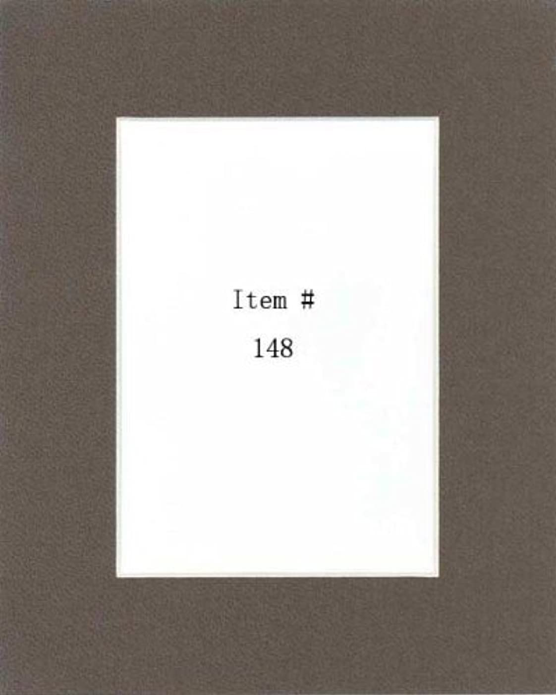 Pack of 100 8x10 Well-Bred Brown Picture Mats Mattes with White Core Bevel Cut for 5x7 Photo