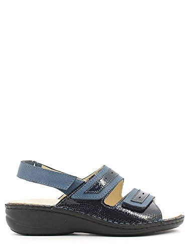 GRÜNLAND DARA SE0061 blaue Sandalen Frau abnehmbare Tücken Fußbett 38