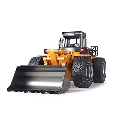 SXLCKJ Control Remoto Aleación Cargador Camión Playa RC Ingeniería Coche Excavadora Canal Bulldozer Grúa Camión Aleación Plástico RC Tru (Coche Inteligente)
