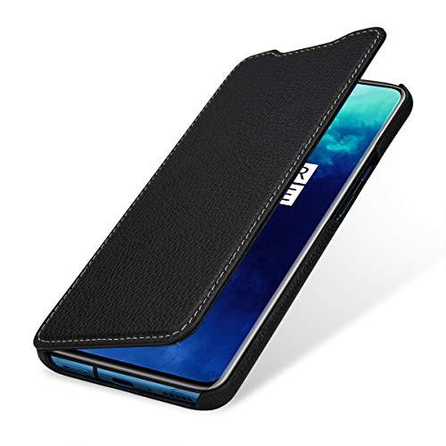 StilGut Hülle geeignet für OnePlus 7T Pro Lederhülle Book Type, schwarz