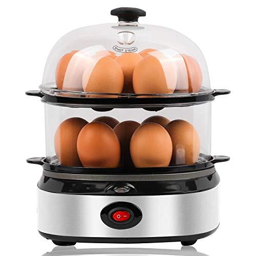 Egg-Cooker,14 Eggs Capacity,Food & Vegetable Steamer,Rapid...
