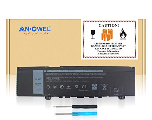 Angwel F62G0 Laptop Battery Compatible with Dell Inspiron 13 5370 7370 7373 7380 7386 P83G P83G001 P83G002 Vostro 13 5370 D1525S D1505G R1605S D2505G Series RPJC3 39DY5 F62GO [11.4V 38Wh]