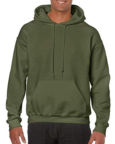 Gildan Heavy Blend Felpa, Verde (Military Green 000), XL Uomo