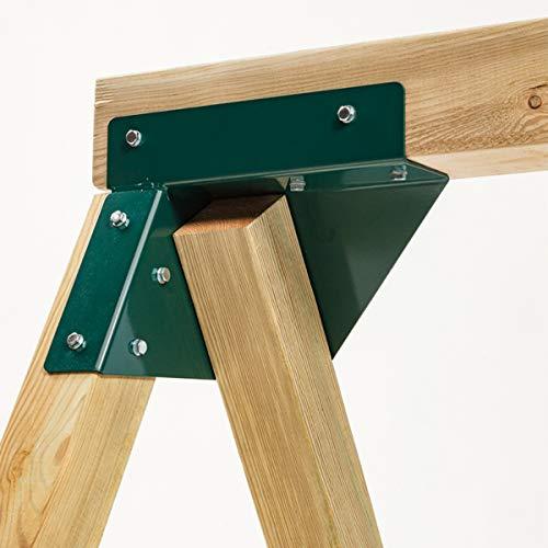 Gartenwelt Riegelsberger Premium Schaukelverbinder Universal für Kantholz 70-125 mm aus Stahl grün pulverbeschichtet 2 Stück