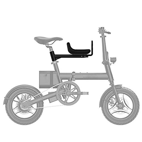 QWET Asiento De Bicicleta para NiñOs, Asiento Plegable Delantero, Accesorios para Bicicletas con Reposabrazos, Adecuado para NiñOs De 2 A 8 AñOs,Negro