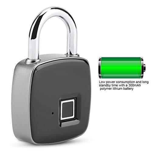 Sollmey Smart Padlock-Anti-theft Smart Fingerprint Padlock Door Cabinet Luggage Security Keyless Lock