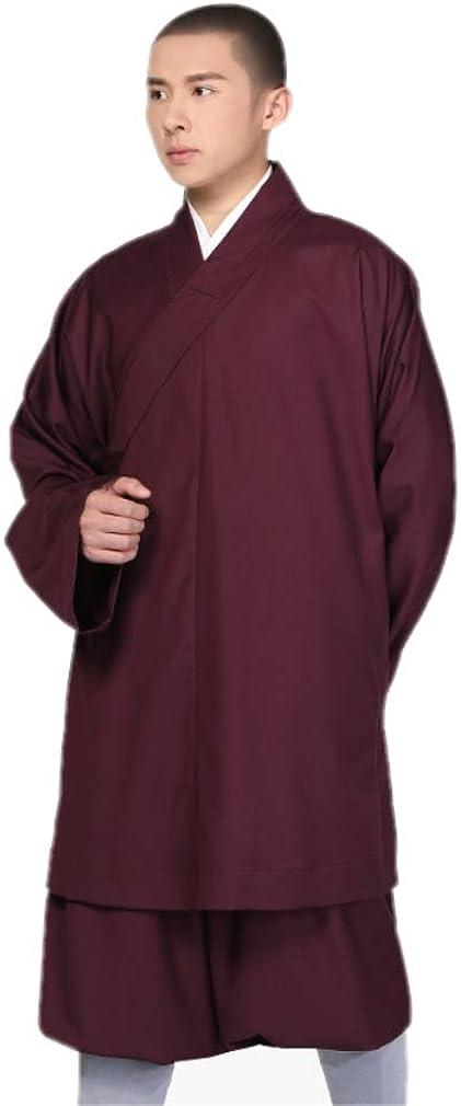DGXIN Men's Shaolin Kung Fu Suits Meditation Casual Suit