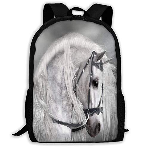 TTmom Zaini/Zaino Casual,Borse a Zainetto, Backpack White Horse Hors...