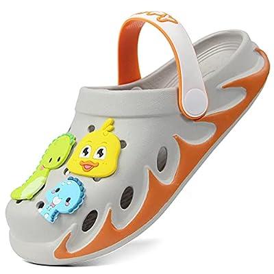 Weweya Kids Garden Clogs Outdoor Beach Water Cartoon Sandals for Boys Girls Toddler