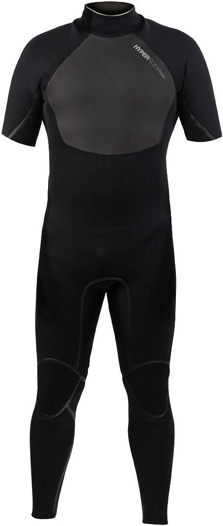 70% OFF Outlet Hyperflex Wetsuits Men's 2.5-mm Amp-3 Zip Denver Mall Short Sleeve Back Full
