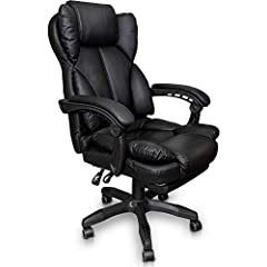 Chaise de bureau Trisens Chaise de bureau Chaise de jeu Racing Chair Fauteuil de chef avec repose-pieds