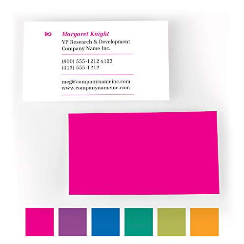Buttonsmith Custom Premium Printed Business Cards - 3.5'x2' - Quantity 500 - Double-Sided, 110 lb Smooth Touch - Magenta - Made in The USA