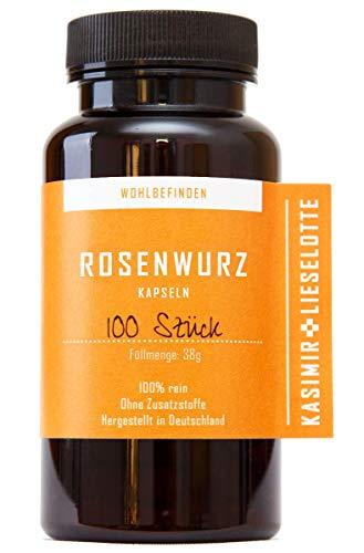 Rosenwurz Kapseln 100 Stück - Die Anti Stress Pflanze aus regionaler Handarbeit