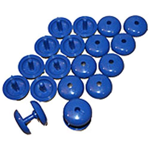 Aquamat SWIMMING POOL SOLAR COVER ACCESSORY - 10 BLUE PRESS FIX POPPERS