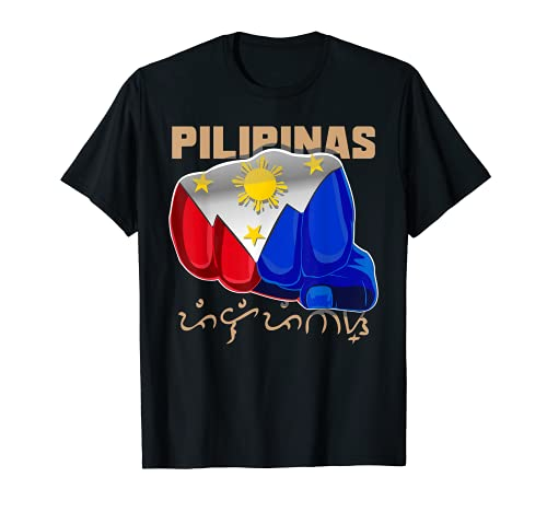 Philippines Pilipinas Baybayin Filipino Flag Boxing Fan T-Shirt