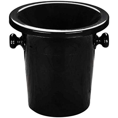 YSPS Cubo de Hielo Negro, refrigerador de Bebidas de Botella de Cerveza, (21x20.5x18cm) Uso en Interiores y Exteriores, barriles de Vino Profesional para recepciones