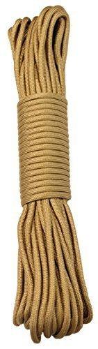 15 m / 50 FT - 4 mm Parachute Cord Seil mit 7 Strängen verschiedene Farben Schnur Fallschirmschnur Schnüre Allzweck Reepschnur Tau Bundeswehr, Survival, Bootsport, Sport, Camping, Segeln, Angeln, Fischen, Wandern reißfest Parachute Cord 550lbs **NICHT ZUM KLETTERN GEEIGNET** (Gold, 15m / 50FT)