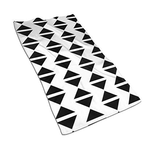Toalla de mano de secado rápido y suave para reloj de arena, color blanco y negro