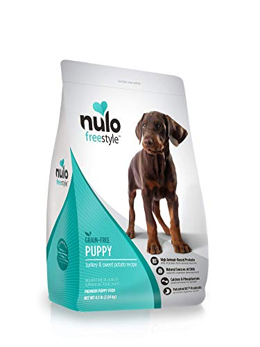 Nulo Puppy Food Grain Free Dry Food With Bc30 Probiotic And Dha (Turkey And Sweet Potato Recipe, 4.5Lb Bag)