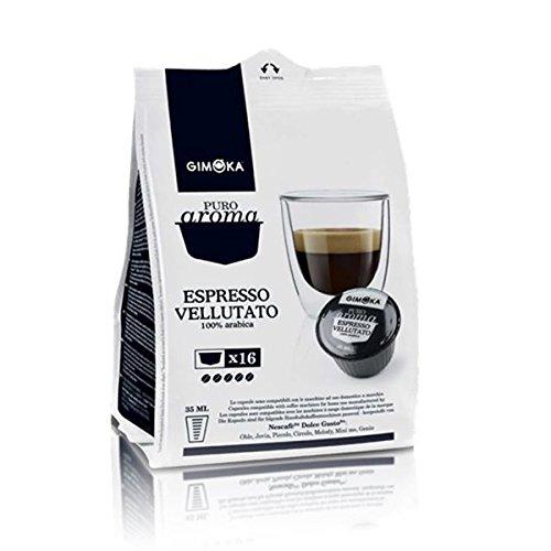 160 Capsule Compatibili Nescafe' Dolce Gusto Gimoka Espresso Vellutato Arabica