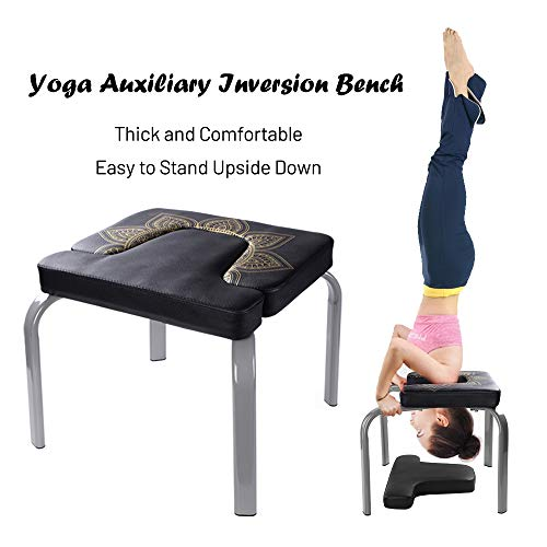 Sale!! Scool Yoga Headstand Bench Yoga Inversion Chair Great for Workout, Fitness and Gym
