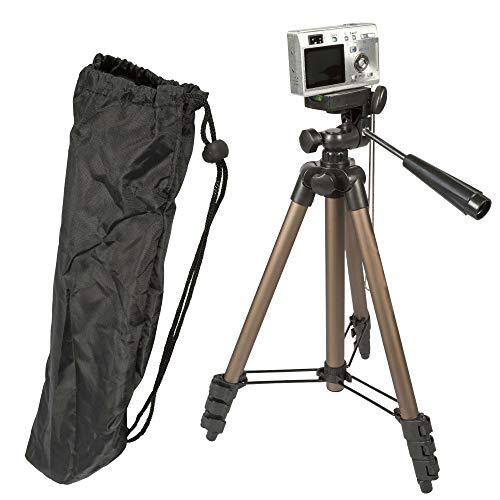 TronicXL Tripod Universal Kamera Stativ 105cm + Tasche kompakt Wasserwaage zb kompatibel für Canon Fuji Nikon Samsung Rollei Sony Canyon Videostativ Photostativ