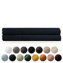 Blumtal Juego de 2 Toallas de Baño (80x200cm) - Juego de Toallas Suaves y Absorebentes, 100% algodón, Certificado Oeko-Tex 100, Azul Oscuro