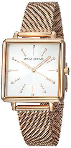 Armani Exchange AX5802 Lola Square Analog Watch  – For Women