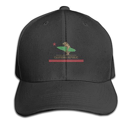Ccsoixu California Surfing Bear Longboard Adjustable Baseball Caps Unstructured Dad Hat 100% Cotton Black,Snapback Hats Women Men Adjustable Baseball Cap Hats