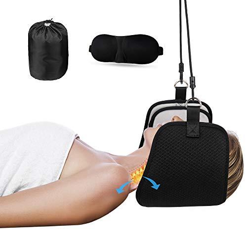 Kitymate Nacken Hängematte für Hals Kopf Nacken Massagegerät Damen Herren Tragbare Nackenmassagegerät Relax Massagegerät Mit Augenbinde