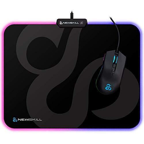 Newskill Nemesis - Alfombrilla gaming de microfibras RGB (talla M) color negro