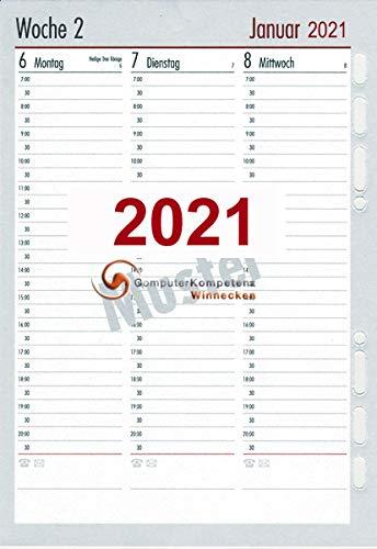 bsb Kalendarium 2021 1Woche=2Seiten A5 in Spalten Multilochung Timeplaner 02-0096