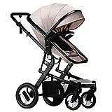 YXCKG Silla de Paseo recién Nacidos con cochecitos para bebés con Cochecito de bebé antichoque Plegable | Cochecito Infantil Apto para Viajes Asiento reclinable Ajustable