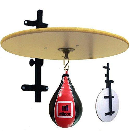 MADX Plateforme de vitesse réglable et pliante avec poire en cuir - Pour entrainement de boxe, MMA