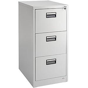 TecTake Armario archivador para Colgar Oficina metálico archivador Carpetas en DIN A4