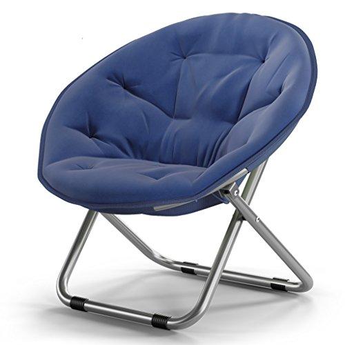 Klappstühle Chen- Erwachsener Moon Stühle Sun Liegen Faul Stuhl Radar Stuhl Lounge Stuhl Runde Stühle Sofa Stuhl Oxford Stoff Thick Upright Baumwolle Stahl