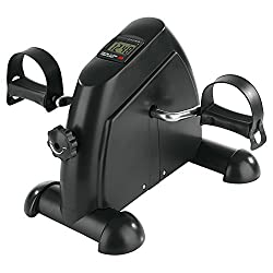 VITALmaxx 04936 Mini Trainer   Incl. Training computer   Trains arm, leg muscles & endurance   For young and old   black