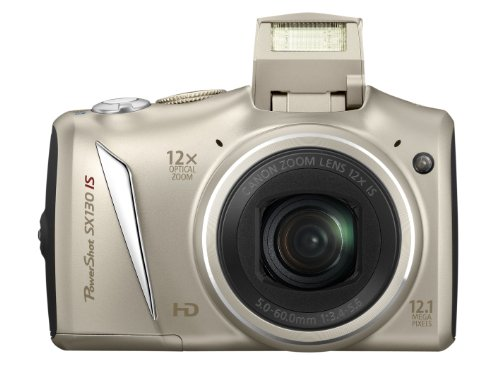 Canon PowerShot SX 130 IS Digitalkamera (12 MP, 12-fach opt. Zoom, 7,5cm (2,95 Zoll) Display, bildstabilisiert) silber