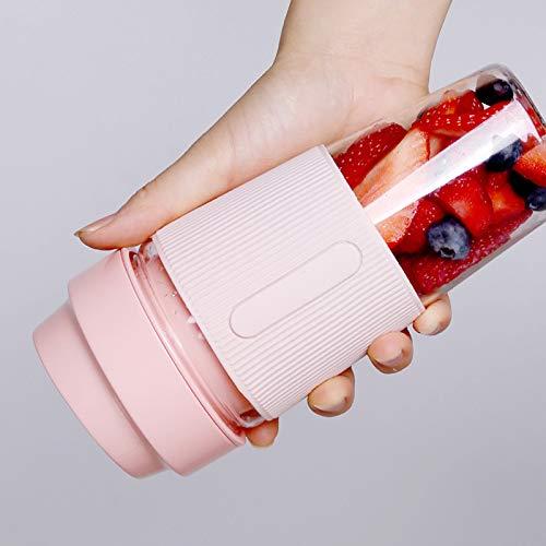 LHFD Mini licuadora portátil, licuadora Personal, licuadora de Jugo USB, para Jugo, Carne picada, Hielo triturado, Remover, 300ml