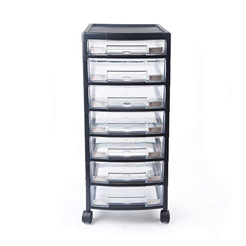 Zavddy Mueble Archivador Archiveros Verticales de plástico cajones Organizador 7 cajón de presentación Gabinete de Almacenamiento Multifuncional Archivador de Cajones