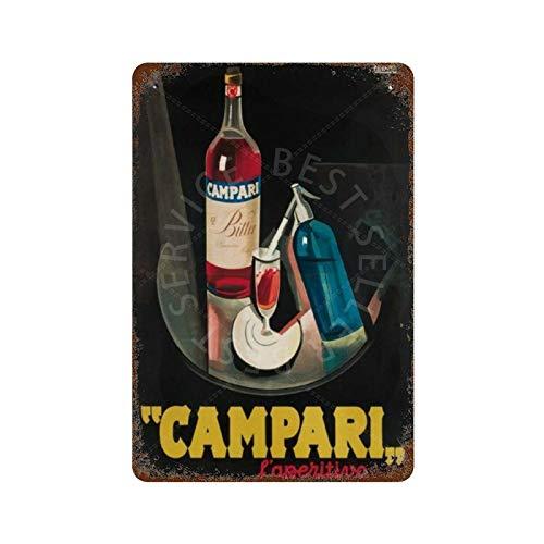 GDRAY 1927 Campari Vintage Retro Blechschild Metallschild Kunststil Poster Home Bar Pub Wanddekoration Öffentliches Schild 20,3 x 30,5 cm