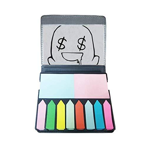 Maak een Mond Water Zwart Emoji Zelf Stick Note Kleur Pagina Marker Doos