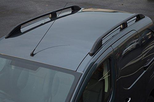 Barras de techo para L1 Berlingo (2008-18) aluminio negro