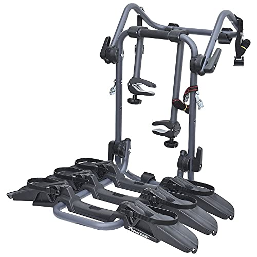 Portabicicletas trasero Peruzzo Pure Instint, 3 bicicletas, compatible con Peugeot 308 de 2007 a 2015, máx. 45 kg, también para bicicletas eléctricas y Fat Bike, homologado