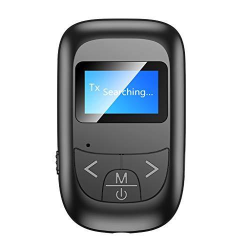 Amuzocity Transmisor Y Receptor Bluetooth, Adaptador Bluetooth Inalámbrico 5 en 1 de 3,5 Mm,