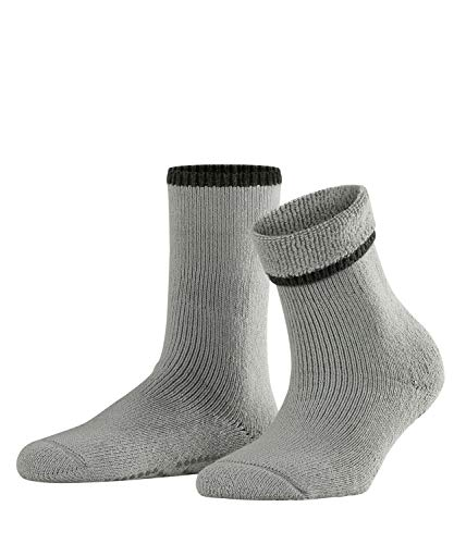 FALKE Damen Vollplüschsocken Cuddle Pads - Baumwollmischung, Warmer Vollplüschsocken für Damen aus Merinowolle und Baumwolle; ideal für Zuhause, Grau (Silver 3290), 35-38, 1er Pack