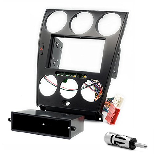 CARAV 11-106-0-6 Kit d'installation autoradio DIN Car 2/1 dans Dash Set with pocket (only For manuel Air de Masques de) + Adaptateur ISO and Antenna Cable