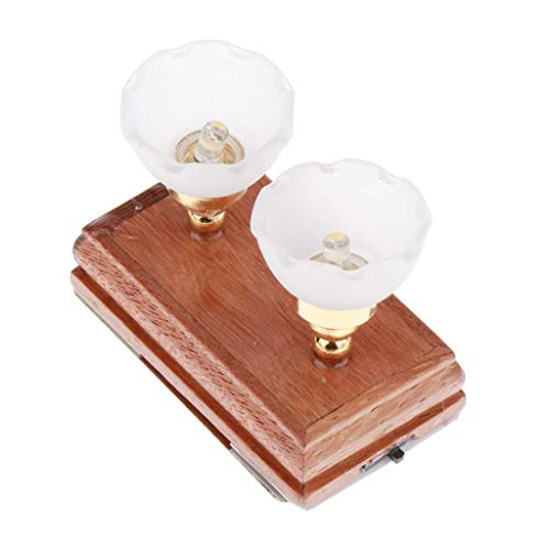 Hellery 1/12 Miniatura LED Luz de Techo Muebles de Muñeca Decoración de Sala de Juegos