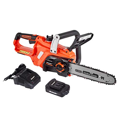 MaxLander Cordless Chainsaw, 20V Battery Powered Chain Saw with 2.0Ah Battery and Fast Charger, 10 Inch Chain and Bar Included Lightweight Easy Clean