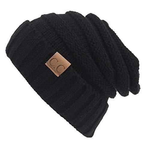 Fliegend Homme Femme Bonnet Tricoté Chapeau Slouch Beanie Coton Calotte Chapeau D'hiver De Fine Jersey Tissu Respirant Élastique